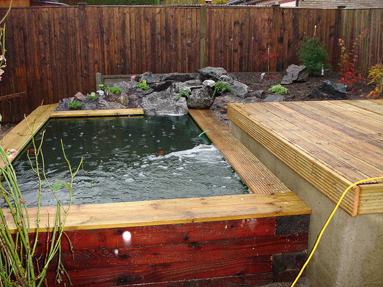 Raised Pond Construction Stanstead Abbotts Aqua Maintenance