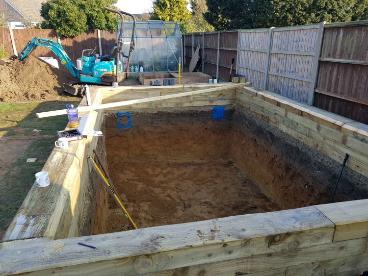 Sleeper pond construction in suffolk aqua maintenance for Raised koi pond construction